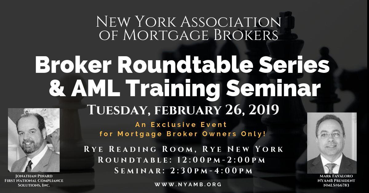 NYAMB - Lower Hudson Roundtable & AML Training Seminar
